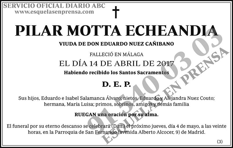 Pilar Motta Echeandia